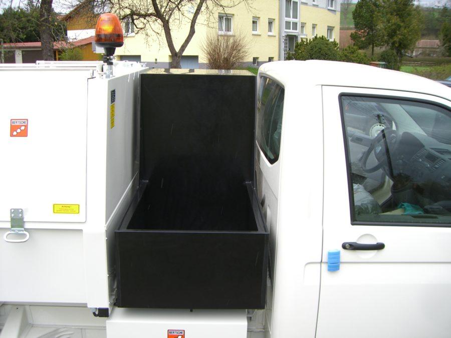 BERTSCHE Leichtmüllverdichter Zwischenbehälter Kunststoff