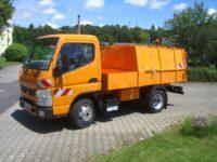 Abfallsammelaufbau/Müllpressaufbau auf Fuso Canter: BERTSCHE Leichtmüllverdichter Typ LM 3,5