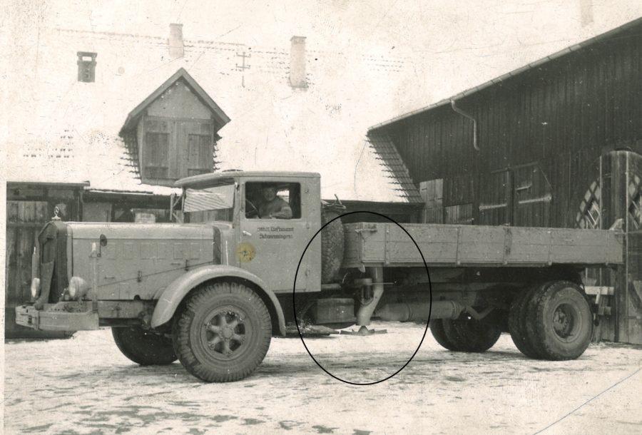 1955 Bertsche Elektrisches Streugerät LKW