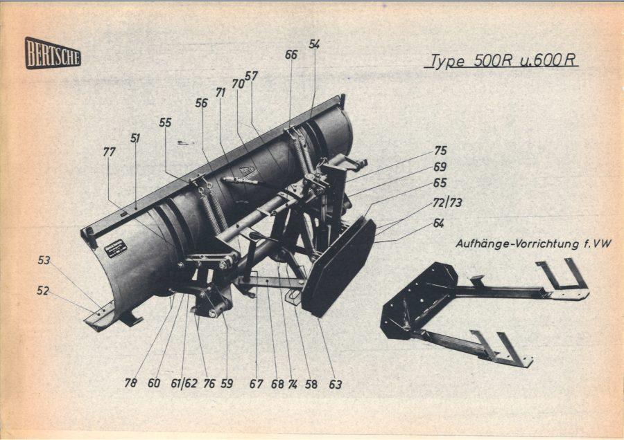 1964 - Der BERTSCHE Schneepflug Typ R500