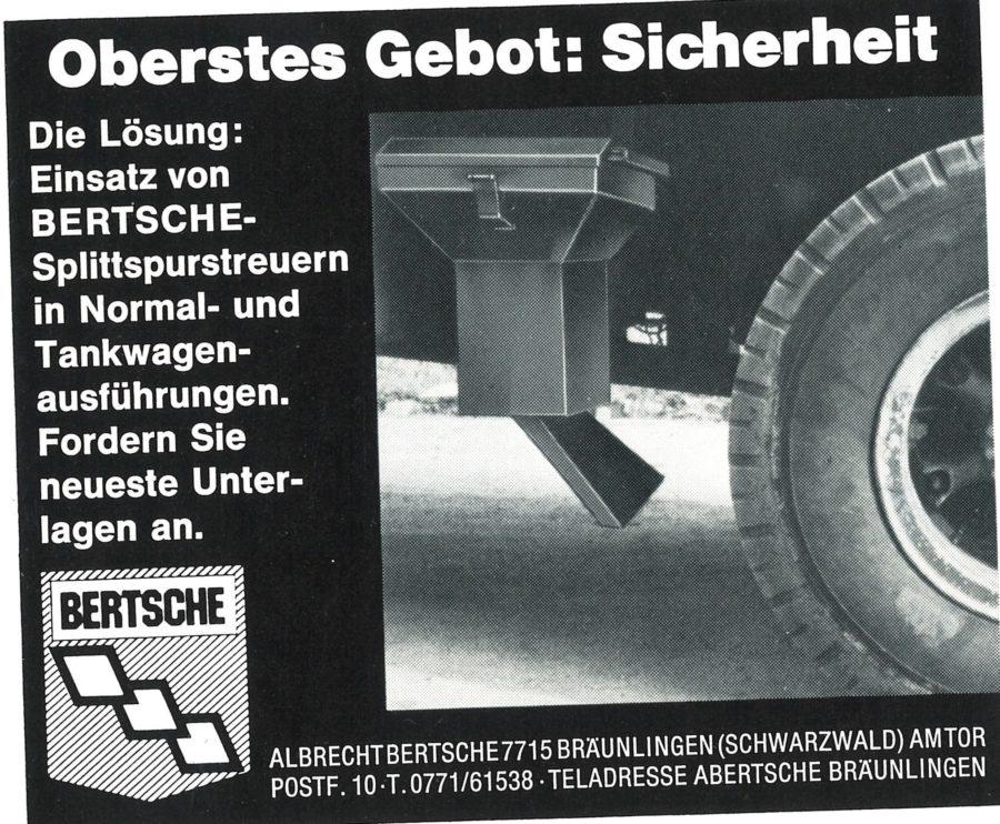 1965 Bertsche Spurstreueranzeige