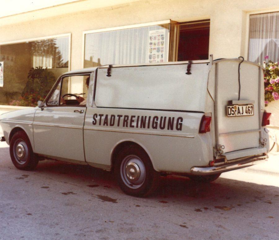 1976 Bertsche Aballsammler auf DAF Höherer Aufbau