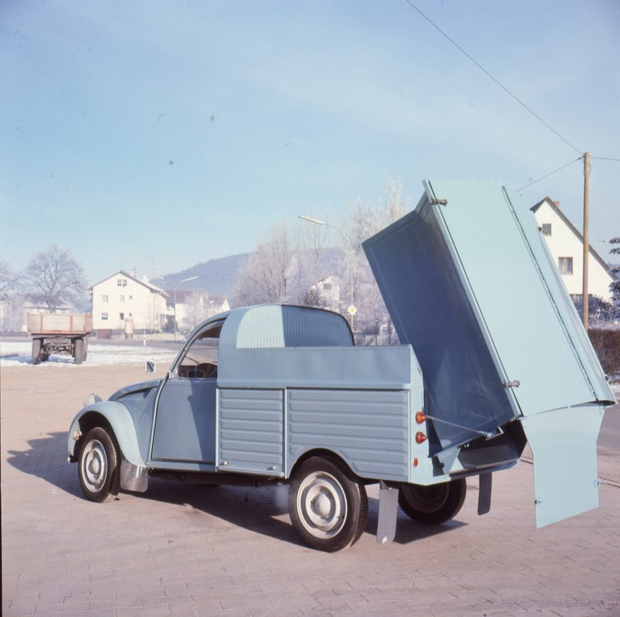 1976 Bertsche Abfallsammelbehälter auf Citroen