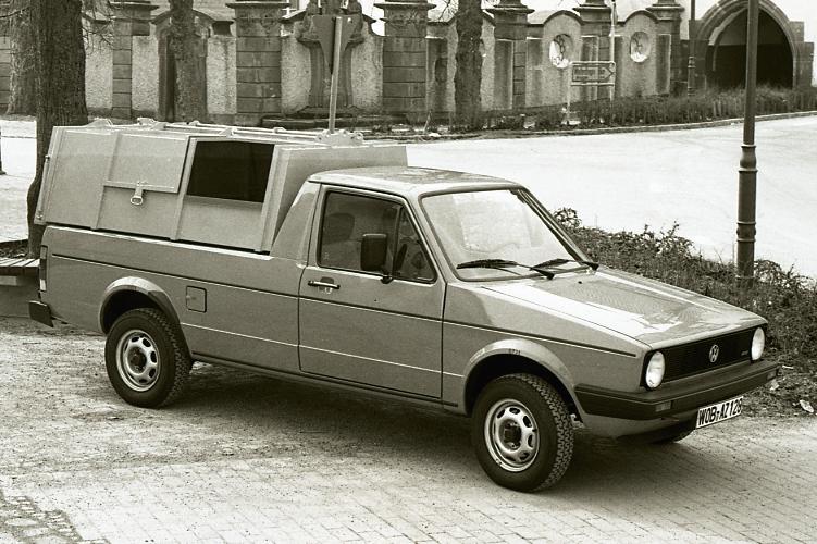 1983 Bertsche 1.Leichtmüllverdichter auf VW Caddy