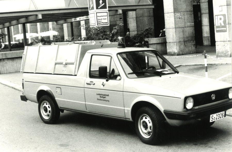 1983 Bertsche Leichtmüllverdichter auf Volkswagen Caddy
