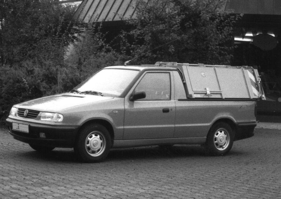 1998 Bertsche LeichtmüllverdichterLM2,0 auf Volkswagen Caddy (9KV)