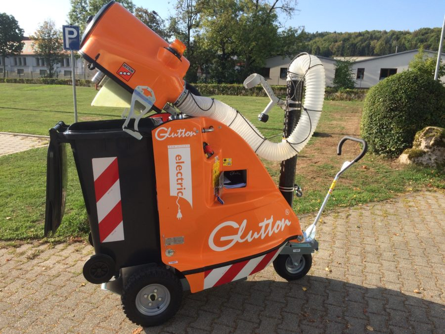 Der GLUTTON® electric in Kommunalorange