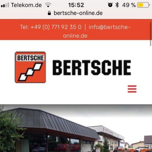 bertsche-online.de Mobilgeräteversion
