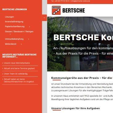 Seitliche Schnellnavigation Bertsche-Online.de