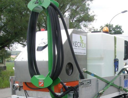 Vorführeinheit: Keckex Dampferzeuger, hydraulisch mit Pritschen-Systemaufbau KX-Flex 1000