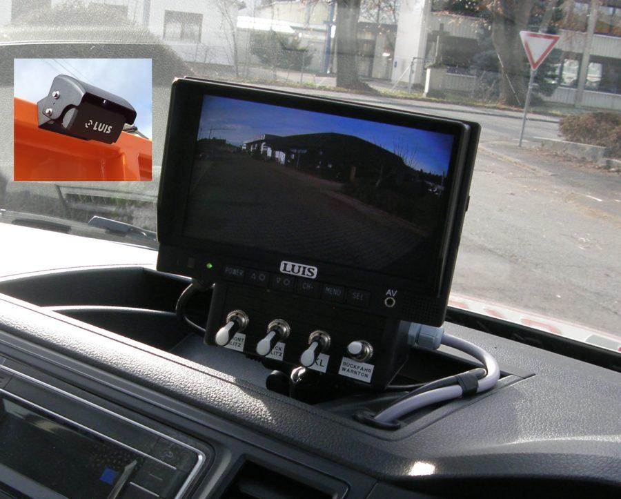 Rückfahrkamera, Monitor, Bedienung Beleuchtung