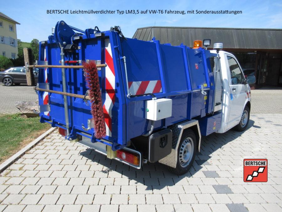 Bertsche Müllpressaufbau LM3,5auf Volkswagen Transporter