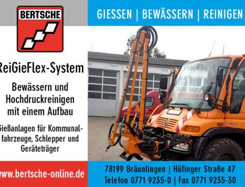 Gießarm/Gießanlage: Mobile Baumbewässerung ReiGieFlex-Aufbau