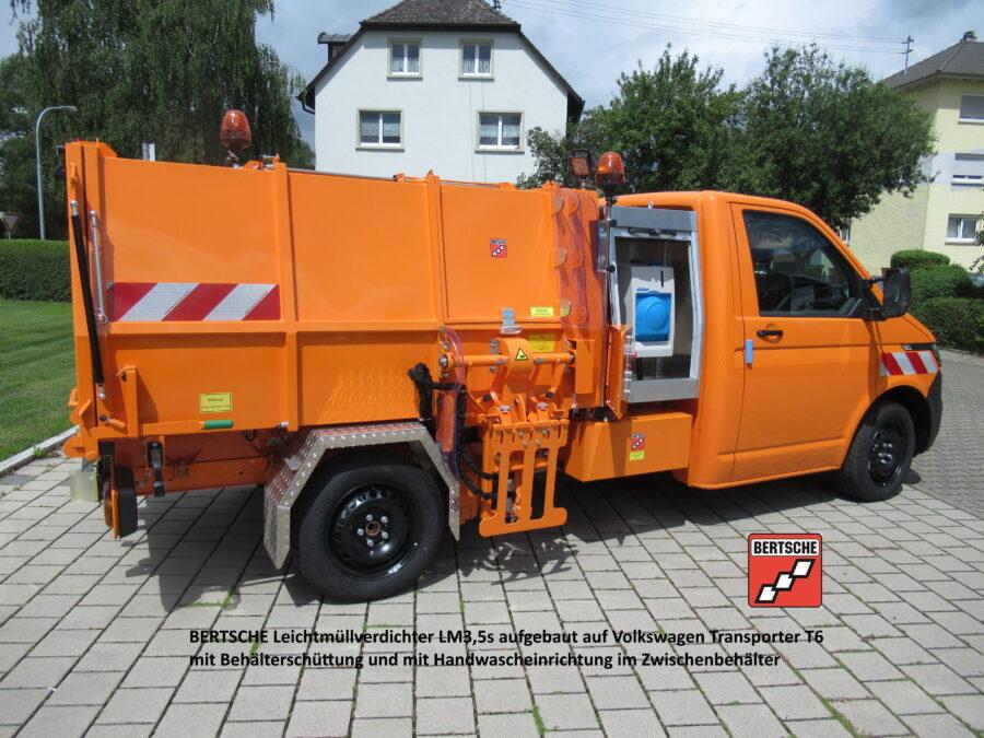 Leichtmüllverdichter auf Volkswagen Transporter T6.1