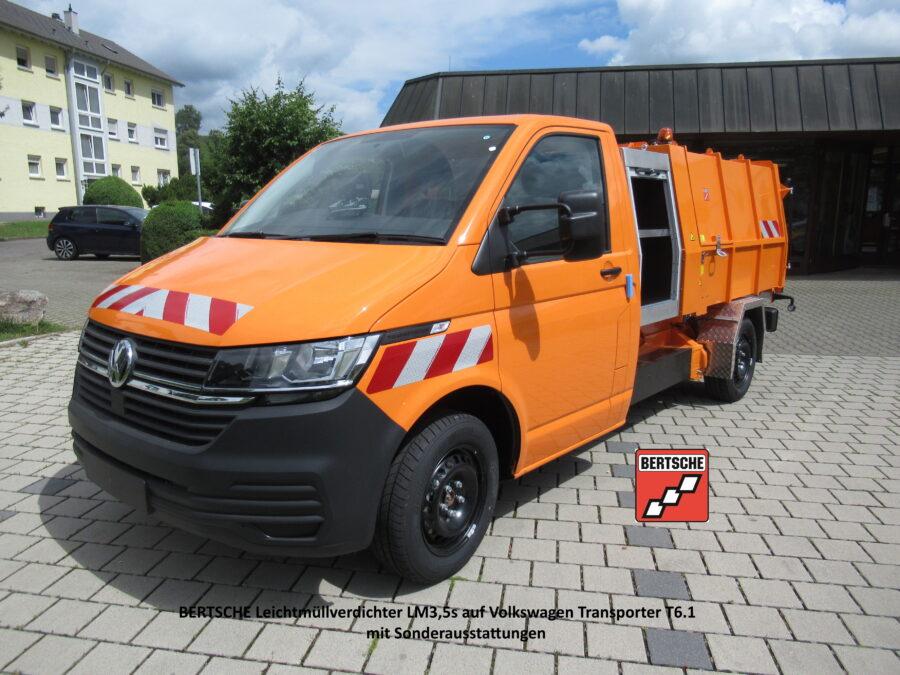 Leichtmüllverdichter auf Volkswagen Transporter