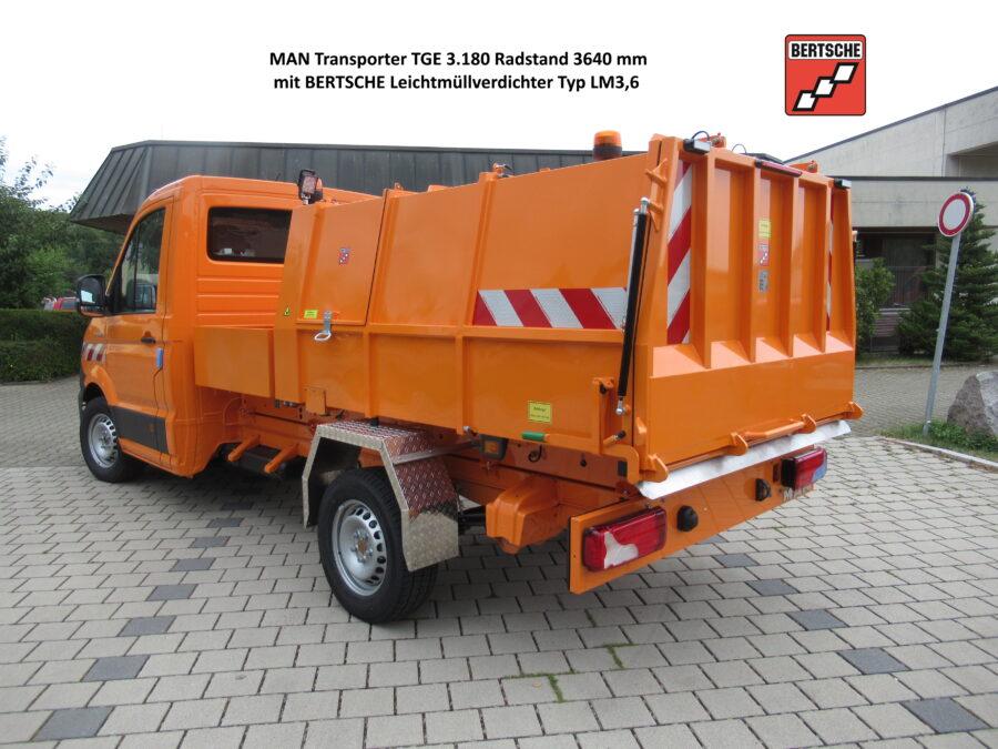 MAN Transporter TGE 3.180 und Leichtmüllverdichter LM3,6