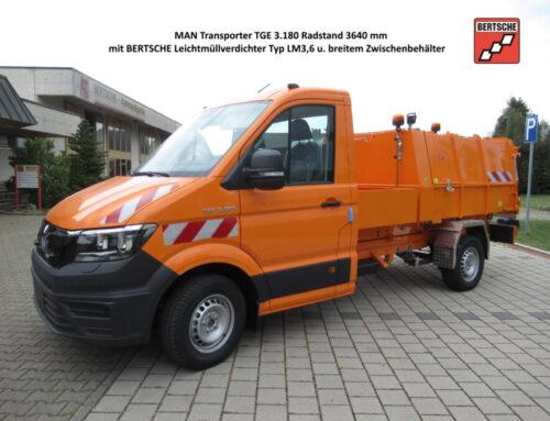 MAN Transporter TGE 3.180 mit BERTSCHE Leichtmüllverdichter LM3,6