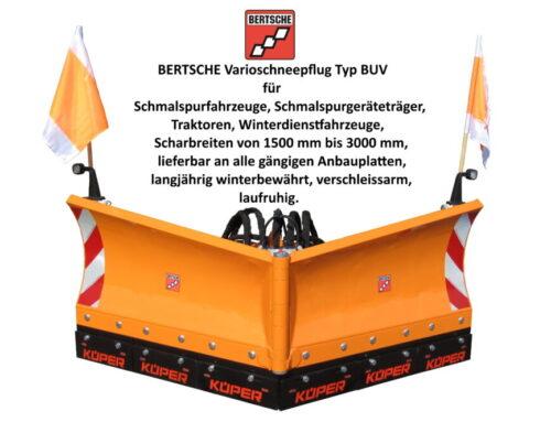 Vario Schneepflug Typ BUV von Bertsche Kommunalgeräte