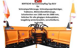 Vario Schneepflug Bertsche Typ BUV