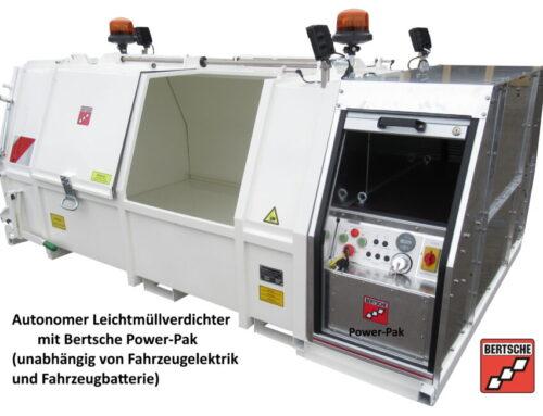 Autonomer Leichtmüllverdichter LME2,2 für Elektrotransporter von Bertsche Kommunalgeräte