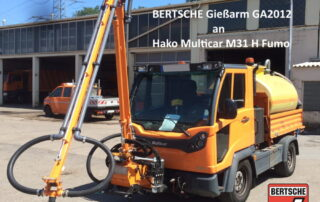 Gießanlage GA2012 an Multicar Fumo M31H
