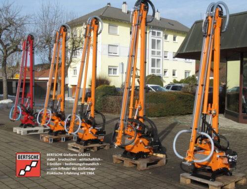 Gießen und Bewässern mit Bertsche Gießarm GA2012 für Schmalspurfahrzeuge